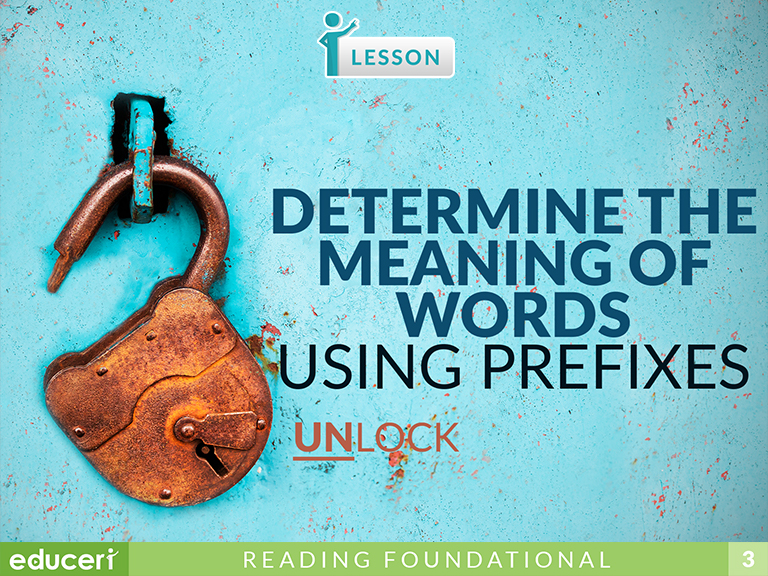 Identify the Meaning of Prefixes | Lesson Plans