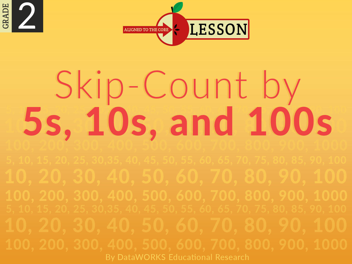 Skip-Count By 5s, 10s, and 100s | Lesson Plans